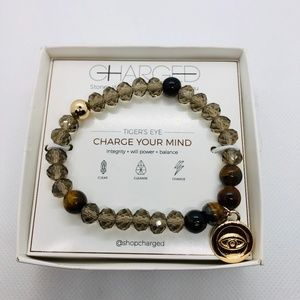 Charge your Mind & Luck TIGER'S EYE & GOLD ELASTIC
